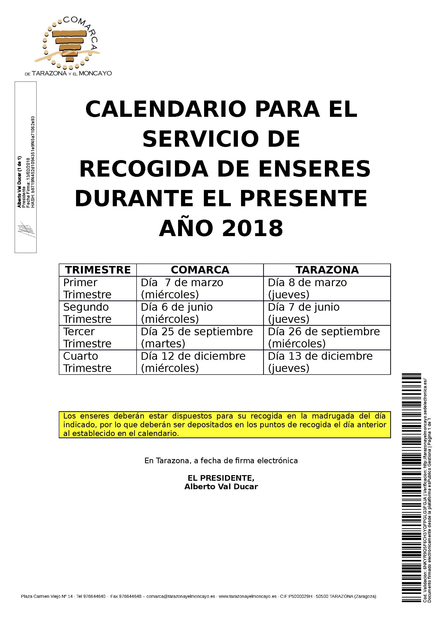 2018 calendarioenseres cartel